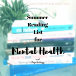Summer Reading List for Mental Health.